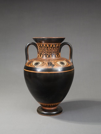 Greek Attic eye amphora in black-figure in the manner of the Antimenes Painter, c.530-520 BC